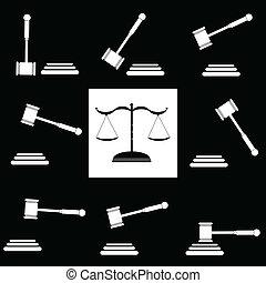 정의, 망치, 삽화