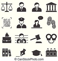 정의, 법, 법률이 지정하는, 아이콘