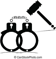 정의, illustrati, 또는, 벡터, 형무소