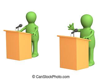 정치에 참여하는, 토론