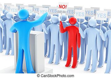 정치에 참여하는, 항의