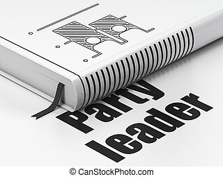 정치에 참여하는, concept:, 책, 선거, 파티, 지도자, 백색 위에서, 배경