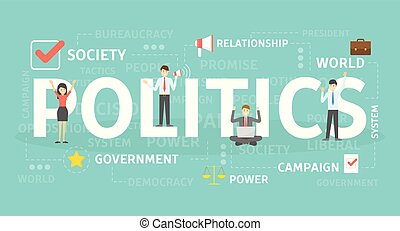 정치, 개념, illustration.