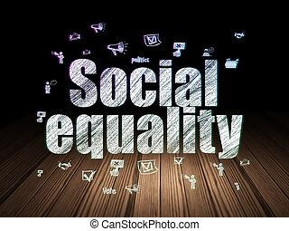 정치, concept:, 친목회, 평등, 에서, grunge, 어두운 방