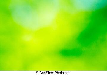 제자리표, 녹색의 배경