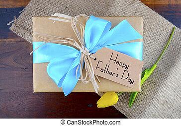 제자리표, 선물, 아버지, 종이, kraft, 일, 행복하다