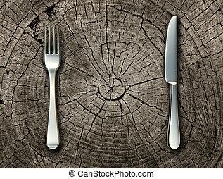 제자리표, 음식