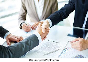 제작, 동의, 협정, 계약