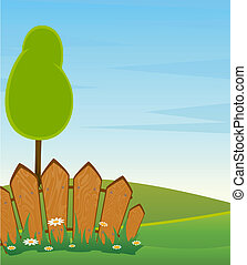 조경술을 써서 녹화하다, 와, 나무, 길, 와..., fenc