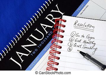 조금의, 제시되는, resolutions, 치고는, 그만큼, 새해