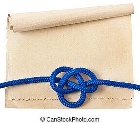 종이, 선박, 매듭