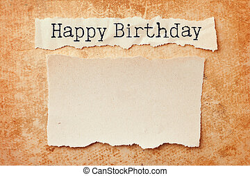 종이, 와, 찢는, 은 테를 달n다, 통하고 있는, grunge, 종이, 배경., 생일 축하합니다