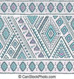 종족의, 멕시코 인, 포도 수확, 소수 민족의 사람, seamless, 패턴