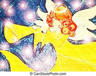 주식 일러스트, 천사, #7