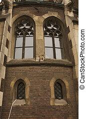 중세의, olga, 가., 창문, 교회, 정면, 얼이z아bxx