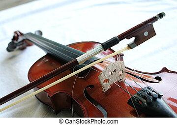 증서, 상세한 묘사, 음악, 바이올린