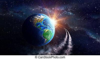 지구, 공상