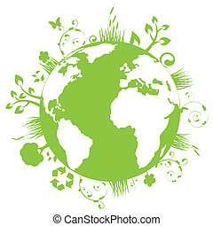 지구, 녹색