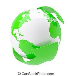 지구, 녹색, 약, 화살