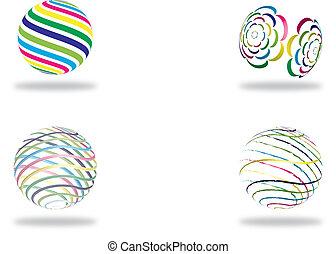 지구, 떼어내다, 은 일렬로 세운다, 스트라이프, 다채로운