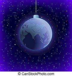 지구, 배경, 크리스마스, 공간