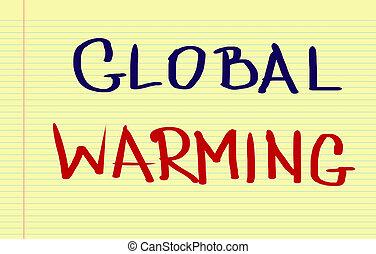 지구 온난화, 개념