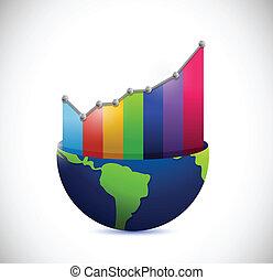 지구, 와..., 색, 그래프, 삽화, 디자인