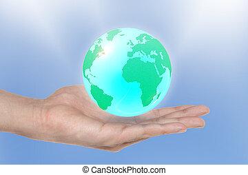 지구, 은 이다, 에서, 너의, 손