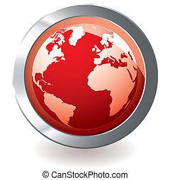 지구 지구, 빨강, 아이콘