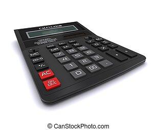 지방의 정제, 검정, calculator., 사무실, 3차원
