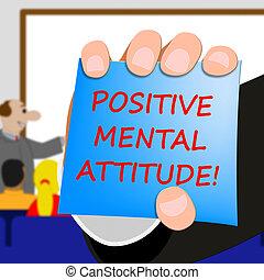 지적인, 은 의미한다, 긍정적인, 삽화, 태도, 낙천주의, 3차원