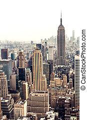 지평선, 공중선, 맨해튼, 보이는 상태
