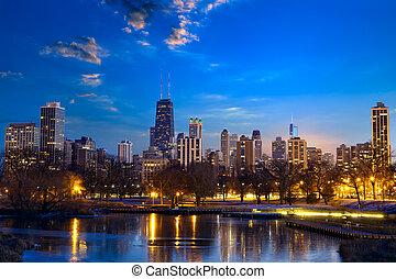 지평선, 시카고