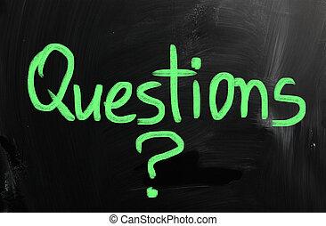 질문, 써진다, 통하고 있는, 칠판
