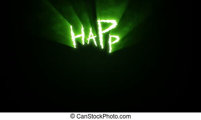 집게발, 은 깎는다, 행복하다, halloween, 녹색