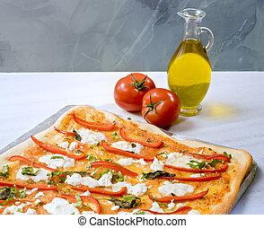 집에서 만든, 피자