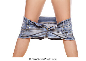짧다, jeans