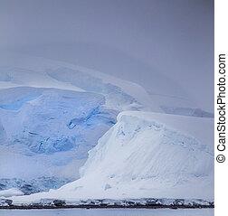 차분한, 남극, 빙산
