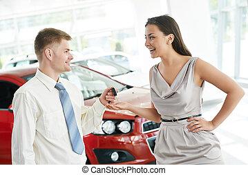 차, 파는 것, 또는, 자동차, 구입
