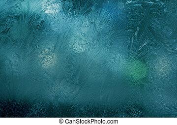 창문, 서리로 덥음, 밤