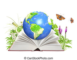 책, 의, 자연, 와..., 지구