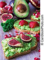 철저한 채식주의자, 규정식, 과일, 아보카도, 유명인, 채식주의자, 빨강, 또는