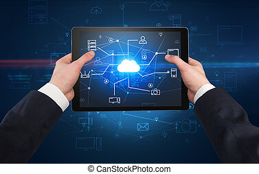 첫번째 사람, 보이는 상태, 의, 정제, 와, 구름, 사무실, 개념