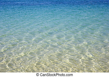 청록색의, seascape., wallpaper., 아름다움, 자연
