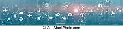 체계, erp, 사업, 계획, 자원, 사이의, intelligence., 기업, 사실상, 스크린, 접속
