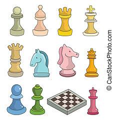 체스, 고립된, 만화