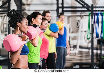 체조, 스포츠, 연습, 범함수, 적당