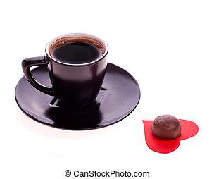 초코렛, 에, 마음, 의, 종이, 와..., 커피, 검정