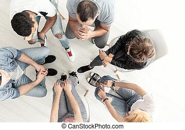 최고의 보기, 통하고 있는, 젊은이, 듣는 것, 에, 심리학자, 동안에, 특수한 모임, 의, 후원 그룹