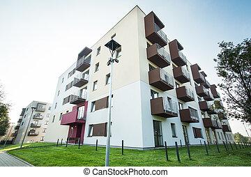 최근, 건축되는, 아파트